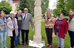 Odhalení sochy M.J.H. v Novém Boru