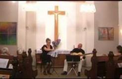 Koncert pro deset strun. Zuzana Čermáková - housle a Jiří Predka - kytara.